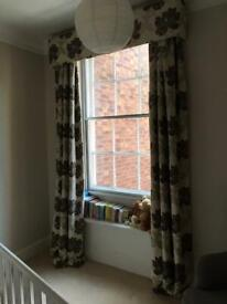 Professionally Made Large Fully Thermal Lined Curtains with Pelmet