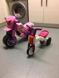 Kids balance bikes and motorbike