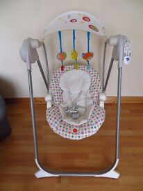 Chicco baby swing with music