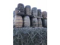 200 litre solid oak barrels