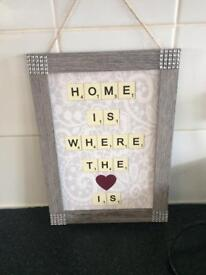 Home plaque picture new with tags