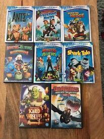 Dreamworks DVD kids children's bundle x 8