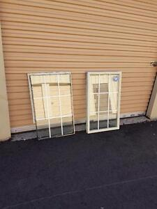 Double pane glass window insert