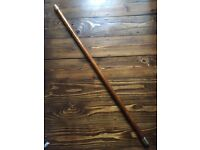 Wood and brass curtain pole, brand new, 2 available