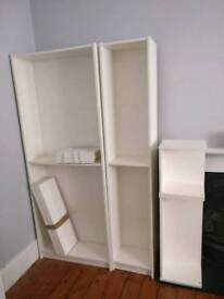 Two IKEA BILLY Bookshelves with extension