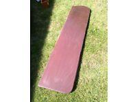 Large mahogany wooden slab