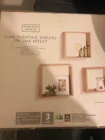 Brand new cube shelves