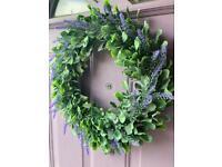 Artificial lavender door wreath New