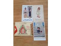 Nine vintage postcards