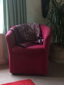 Tub chair pink