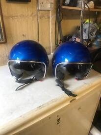 2 Matching Original Vespa motorcycle helmets