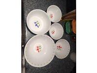 5 Corelle bowl set