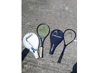 Rackets - Tennis squash. DUNLOP. HEAD