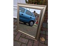 20 x 16 gold-framed mirror