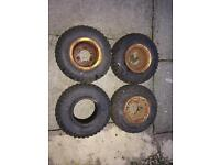 Suzuki lt50 tyres and rims pull start