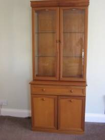 China display cabinet, teak, Sutcliffe Trafalgar range