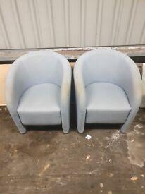 2 x tube chairs