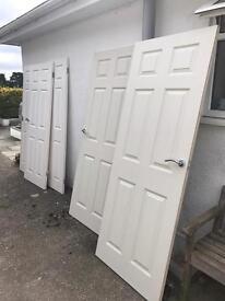 5x interior 6 panel doors