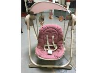 Pink Chicco Baby Swing