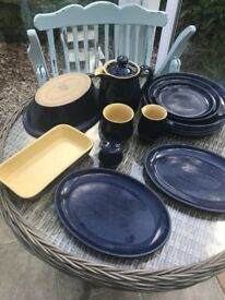 Denby Imperial Blue Crockery - Grab Yourselves a bargain - Various Pieces £75 the lot