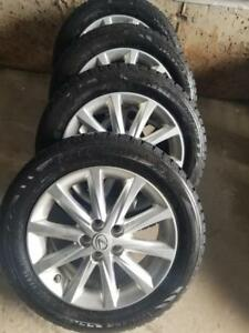 LIKE NEW 2014 LEXUS CT 200 WINTER CLAW ICEGRIP PERFORMANCE WINTER TIRES 205 / 55 / 16 ON REPLICA WHEELS WITHSENSOR