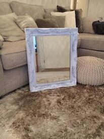 White shabby chick mirror
