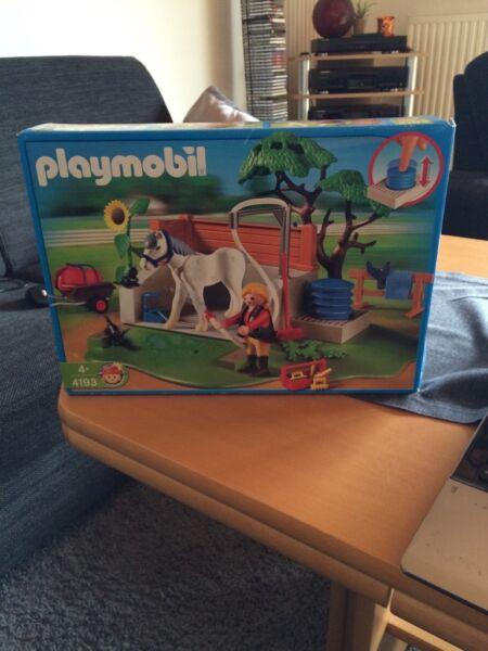 playmobil pferde waschplatz in niedersachsen aurich playmobil g nstig kaufen gebraucht oder. Black Bedroom Furniture Sets. Home Design Ideas