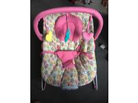 New condition girls bouncy chair