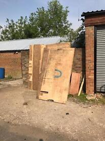 Free old 18mm ply ( off cuts and full sheets )