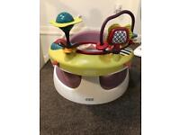 Baby Snug Baby Seat with Detachable Play Tray - Dusky Rose - brand new