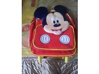 Mickey Mouse Disney School Back Bag with Wheels