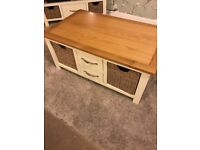 Cream and Wicker Coffee Table