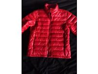 BOMBOOGIE HOT RED JACKET W/PURE DOWN PADDING