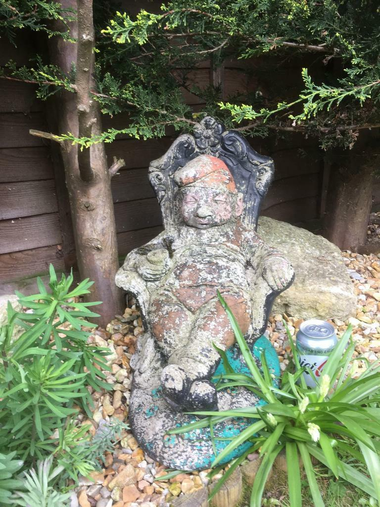 Gnome In Garden: Vintage Large Stone/Concrete Garden Gnomes Looking For A