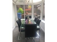 John Lewis Dining table and 6 chairs in immaculate condition. Asking price £750