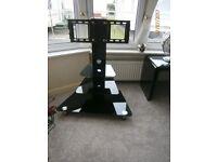 Upright TV stand