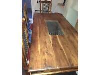 Sheesham Dining table and 4 chairs - Jali Sheesham Indian Wood
