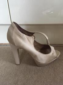 Pair of nude heels shoes sandals Carvela, size 41 or 7, 8 UK