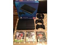 PS3 Slimline 500GB including 2 controllers and Games