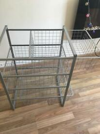 Metal storage rack excellent condition