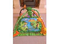 Rainforest baby musical activity play mat fisher price