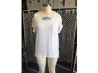 RAG & BONE woven white T-shirt, Size M