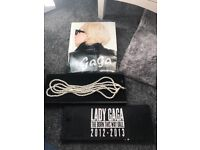 Lady gaga necklace and book.