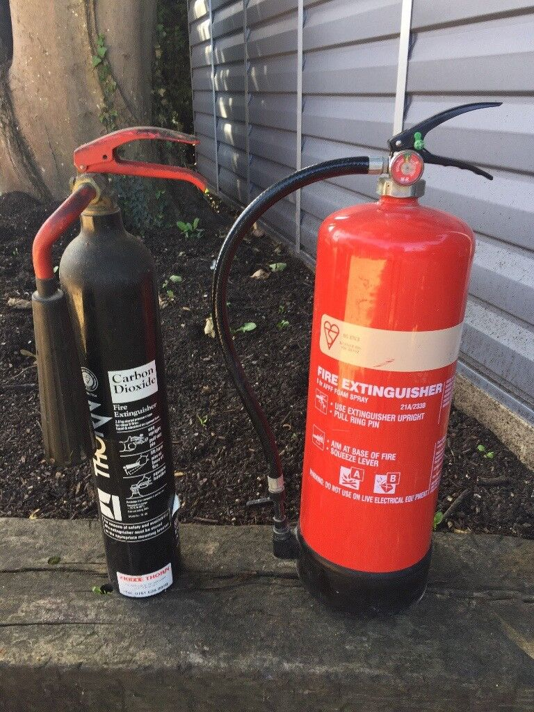 Two Fire Extinguishers - Foam and Carbon Dioxide