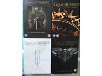 Individual Game Of Thrones DVD Box Sets Season 1-4