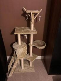 Tall cat scratch post tower totem