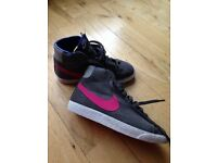 Girls Nike Blazer hi tops- size UK 4 worn twice excellent condition