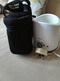 Bottle/food warmer + 2x thermal bags Tommee tippee