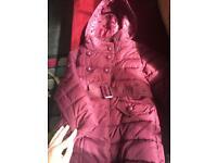 Girls winter coats 3-4, 5-6