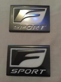 Lexus F Sport OEM badge